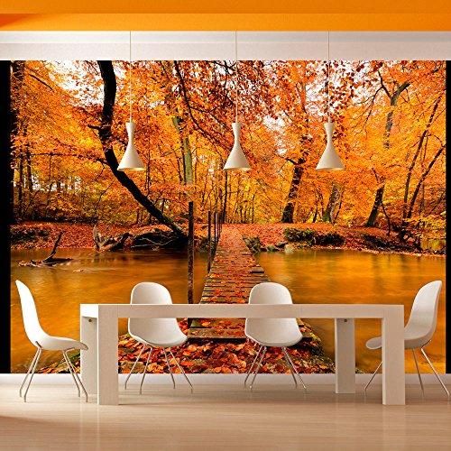 Fotomural decorativo de lago en oto o for Fotomurales naturaleza