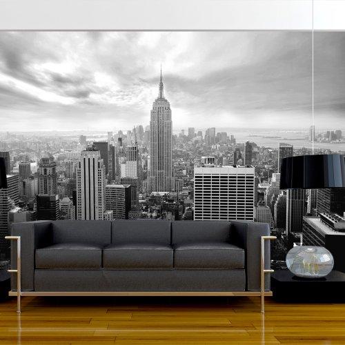 Fotomural decorativo de new york en blanco y negro for Sala new york
