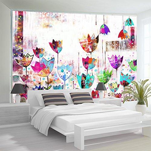 Fotomural adhesivo de flores decorativas - Amazon decoracion pared ...