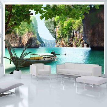 Fotomurales baratos de playas paradisiacas y palmeras for Fotomurales baratos