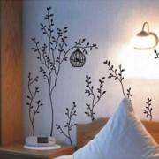 Walplus-Vinilo-adhesivo-decorativo-para-la-pared-diseo-de-rboles-con-jaulas-de-pjaros-0-2