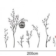 Walplus-Vinilo-adhesivo-decorativo-para-la-pared-diseo-de-rboles-con-jaulas-de-pjaros-0-3