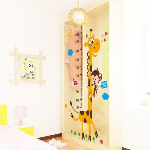 Vinilo infantil medidor jirafa y mono Vinilos de pared infantiles