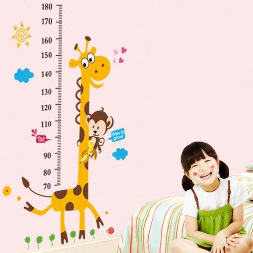 Vinilo infantil medidor jirafa y mono for Vinilos para dormitorios de ninos