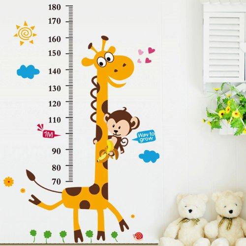 Vinilo infantil medidor jirafa y mono for Precio de vinilos decorativos