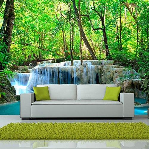 Fotomural con lago y cascada en selva - Fotomurales habitacion juvenil ...