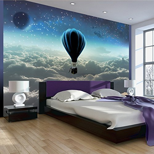 Fotomural para dormitorio espectacular de un globo aerostatico for Papel de pared para salon
