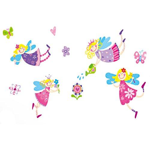 Vinilo infantil de princesas y hadas de colores - Dibujos infantiles para decorar paredes ...