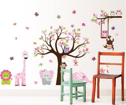 Vinilo infantil bosque con animales for Vinilos infantiles animales