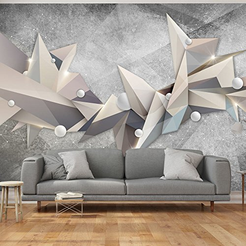 Fotomural abstracto en tonos grises for Fotomurales economicos