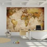 Fotomural-mapamundi-Mural-mapa-con-relieve-decoracin-mural-XXL-mapamundi-en-proyeccin-de-Miller-GREAT-ART-0-0