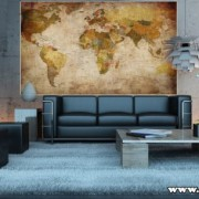 Fotomural-mapamundi-Mural-mapa-con-relieve-decoracin-mural-XXL-mapamundi-en-proyeccin-de-Miller-GREAT-ART-0-1