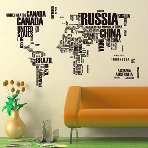 Vinilo mapa del mundo para pared barato for Vinilos de pvc para paredes
