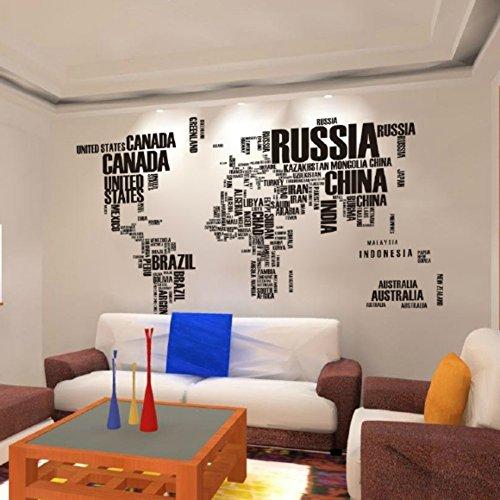 Vinilo mapa del mundo para pared barato - Forrar paredes con vinilo ...