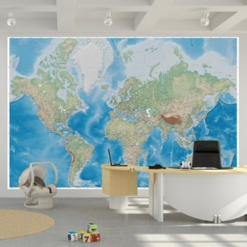 Fotomurales de mapas mapamundi pol ticos - Papel pintado mapamundi ...