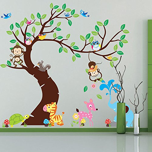 Vinilo infantil de un rbol para la habitaci n de los ni os for Decorativos pared