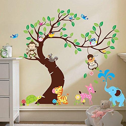 Vinilo infantil de un rbol para la habitaci n de los ni os for Pegatinas de pared baratas