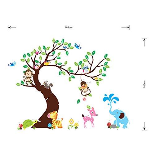 Vinilo infantil de un rbol para la habitaci n de los ni os for Pegatinas pared arbol infantil