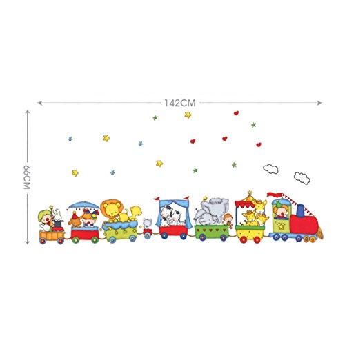 Vinilo infantil tren con animales for Vinilos para ninos bebes