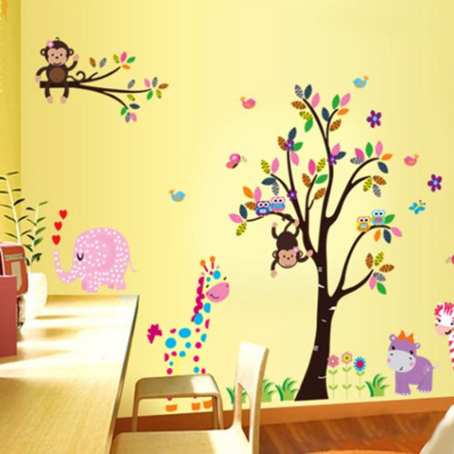 Vinilo decorativo infantil de animales for Oferta vinilos pared