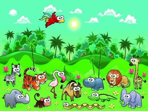 Fotomural infantil animales de la selva - Fotos de animales infantiles ...