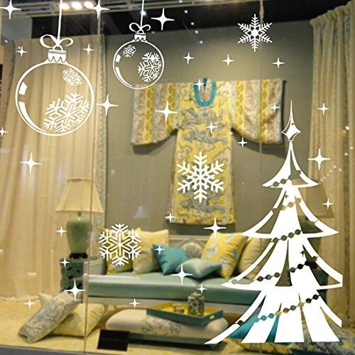 Vinilo decorativo bolas copos y rbol de navidad - Decorativos de navidad ...
