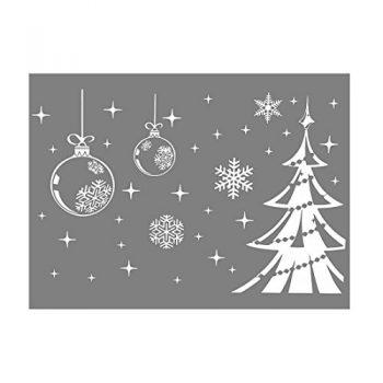 Vinilos y pegatinas de navidad para ventanas y escaparates for Decoration bordure fenetre