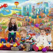 Ciudad-colorida-de-cmic-fotomurales-decoracin-de-la-pared-de-Great-Art-adhesivo-especial-0-4
