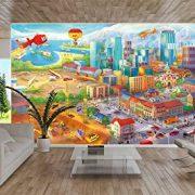 Ciudad-colorida-de-cmic-fotomurales-decoracin-de-la-pared-de-Great-Art-adhesivo-especial-0-5
