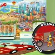 Ciudad-colorida-de-cmic-fotomurales-decoracin-de-la-pared-de-Great-Art-adhesivo-especial-0-6