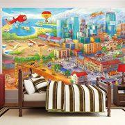 Ciudad-colorida-de-cmic-fotomurales-decoracin-de-la-pared-de-Great-Art-adhesivo-especial-0-7
