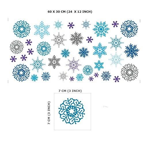 Vinilos decorativos de copos de nieve de navidad - Decorativos de navidad ...