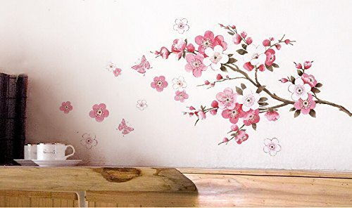 Vinilo decorativo floral muy elegante for Oferta vinilos pared