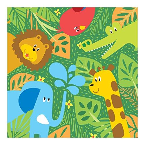 Fotomural infantil animales del zoo - Papel decorativo barato ...