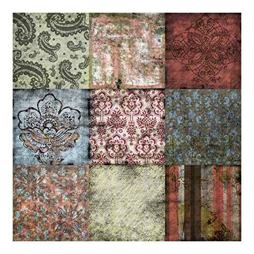 Papel pared vintage trendy custom vintage wallpaper grano - Paredes con papel pintado ...