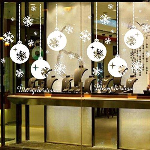 Pegatinas de bolas de navidad para escaparates - Adornos de navidad para escaparates ...