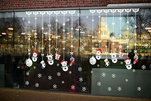 Pared-de-la-Navidad-EtiquetaRETUROM-Navidad-bola-de-nieve-desmontable-Inicio-Vinilo-Ventana-engomadas-de-la-pared-de-la-etiqueta-de-la-decoracin-0-4 Escaparates decorados con vinilos de Navidad