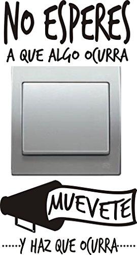 Vinilo decorativo para interruptor con la frase no - Vinilos frases para dormitorios ...