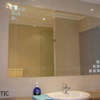 Vinilos y fotomurales para el ba o para espejos azulejos o armarios - Decorar espejo bano ...