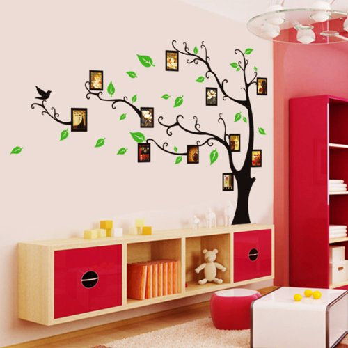 Vinilo decorativo arb l con marcos de fotos en for Oferta vinilos pared