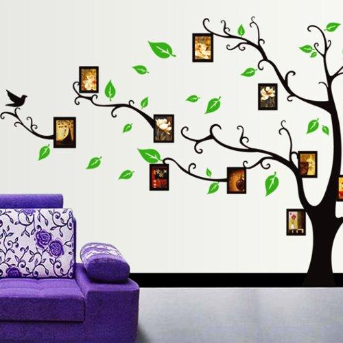 Vinilo decorativo arb l con marcos de fotos en for Vinilos para dormitorios de ninos