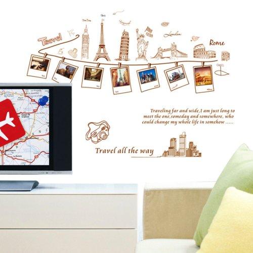 Vinilo decorativo de recuerdos de viajes por el mundo for Vinilos de pared juveniles