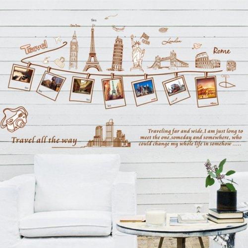 Vinilo decorativo de recuerdos de viajes por el mundo for Sala vinilo