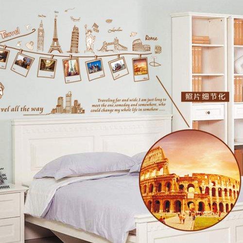 Vinilo decorativo de recuerdos de viajes por el mundo for Pegatinas para habitaciones
