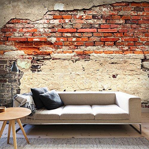 Fotomural adhesivo con pared de ladrillos rojizos muy - Adhesivo de pared ...