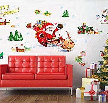 Vinilos y pegatinas de navidad para ventanas y escaparates for Vinilos pared navidad
