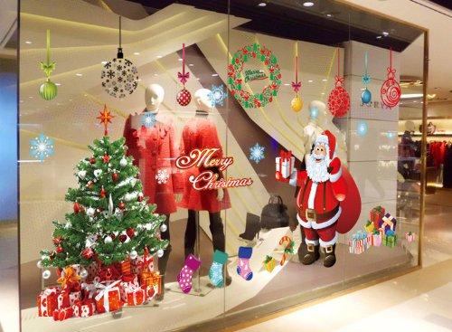 Escaparates decorados con vinilos de navidad en - Decoracion navidena para comercios ...